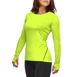 3544cabf19 Women's Performance Active Fit Long Sleeve Crew Neck Shirt Crew Neck Shirt,  Sport Clothing,
