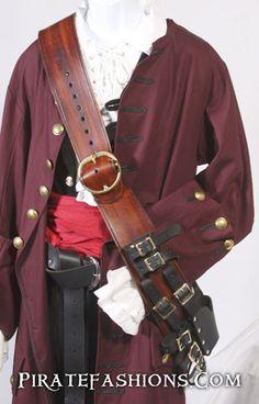 Pirate Captain's Leather Baldric – Pirate Fashions