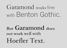 A Crash Course in Typography: Principles for Combining Typefaces - noupe