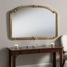 6000c027f0 Large gold ornate overmantle mriror Overmantle Mirror