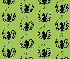 celtcattailknotblka2 fabric by ingridthecrafty on Spoonflower - custom fabric