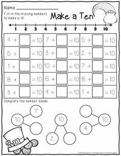 March Print and Do math and literacy printables