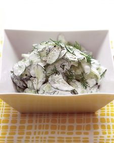 Cucumber Salad with Sour Cream and Dill Dressing Recipe