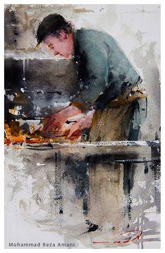 Mohammad Reza Amani Hard work / 19x28