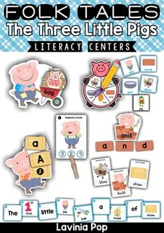 The Three Little Pigs Literacy Centers