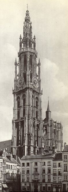 Onze-Lieve-Vrouwekathedraal, Antwerpen Old City, Empire State Building, Life Is Beautiful, Castle, Architecture, Buildings, Ships, Bullet Journal, Travel