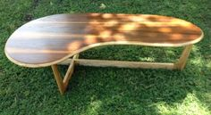 Mid Century Modern Adrian Pearsall Kidney Shaped Walnut Coffee Table | eBay