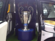 The glorious European Champions League trophy - fresh and in the flesh! MUFC have won it 3 times....cant wait for the 4th