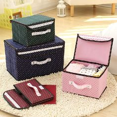 Top Seller Non-Woven Fabric Home Storage Boxes Covered Folding Finishing Box Bag #NOBRAND