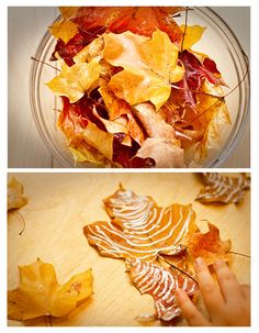 Preserve fall leaves with Mod Podge