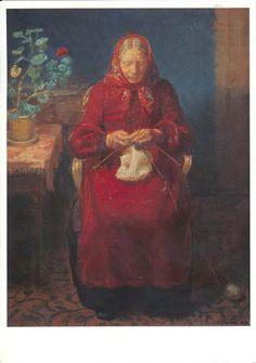 Textielpost – Noord-Jutland << knitting knitter portait art