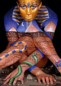 ✯ Craig Tracy's Body Painting Egyptian Style ✯