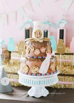 Anders Ruff Custom Designs, LLC: Girlie Vintage Milk and Cookies Birthday Party
