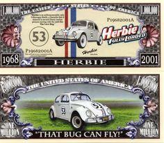 Herbie Fully Loaded Million Dollar Novelty Money