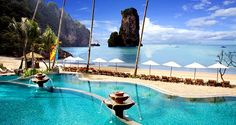 Krabi, Thailand. The most amazing hotel I have ever stayed in with one of the best views in the world...