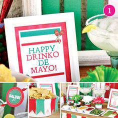 {Party of 5} Cinco de Mayo, Pink Country Fair, Mother's Day Brunch, Nautical Party & Dr. Seuss Birthday