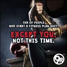 """Studies show that over 70% of the people that start a fitness plan eventually quit within the first year. But WHY?? There's a million reasons why. They're called EXCUSES. But excuses DON'T burn calories. 9Rounders DON'T make excuses. And 9Rounders DON'T quit. The """"old you"""" MIGHT have made excuses. The """"old you"""" MIGHT have quit. But NOT this time. Not the """"new you."""" You're the 30%. You're a 9ROUNDER. #MotivationMonday #9RoundEastlake"""