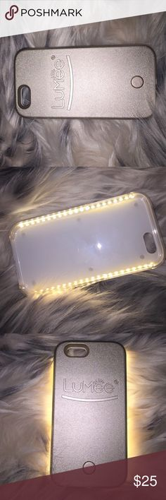 ➡️Light Up Lumee Phone Case iPhone 6(6s)❗️❗️ Take the perfect selfie with this Illuminated Phine case for your iPhone 6/6s!! Comes with rechargeable charging case and cord included, easy on or off switch for lighting, tough protected case, dimmer switch to control light setting! Only used once ; recently purchased the iPhone 7 so I won't be needing this case, or any other case listed. Iphone 6/6s Accessories Phone Cases