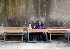 Tamman Azzam, 'Classroom' Syrian artist Tammam Azzam has laid Gustav Klimt's 'The Kiss' over an image of a war-torn wall in Syria. He calls it 'Freedom Graffiti'… https://twitter.com/ogugeo/status/373726731187671040