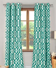 Another great find on #zulily! Emerald Green Ashmont Blackout Curtain Panel - Set of Two by Duck River Textile #zulilyfinds