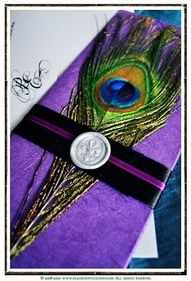 Peacock wedding invitations  I couldn't resist to pin it