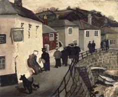Christopher Wood (English, 'Ship Inn', Mousehole, Oil on board, 49 x via Your Paintings, Beautiful Paintings, Klimt, City Gallery, St Ives, Naive Art, Art For Art Sake, Landscape Art, Portraits