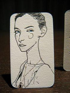 fashion business card // #letterpress