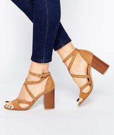 strappy block heeled sandals