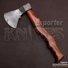 KNIVES EXPORTER New Tomahawk Viking Wooden Handle Damascus Steel Axe #KNIVESEXPORTER