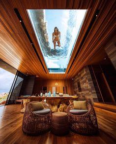 via heavywait - modern design architecture interior design home decor & Popup House, Container House Design, Cozy Room, Lounge Areas, Modern House Design, Glass House Design, Home Fashion, Luxury Fashion, Home Interior Design