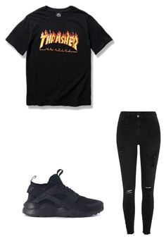 """""""Untitled #60"""" by amysonmaijah on Polyvore featuring WithChic, River Island and NIKE"""
