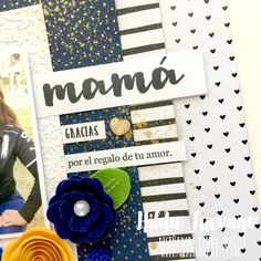 Hilda Designs: Reto de Mayo en LC: Lo' Mamá sellos Latina Crafter