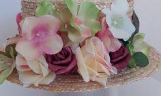 VALENTINO icon Canotier Hat Head Celebrities Runway Tulle Pink COOL Flowers SALE #Handmade #PartyEveryDayGoodLookWedding