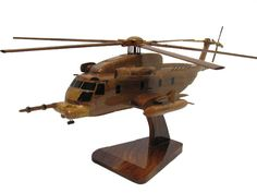 Sikorsky MH-53 MH-53M Pave Low USAF Afsoc Csar Helicopter Wood Handcrafted Wooden Model Christmas Gift by MilitaryMahogany on Etsy
