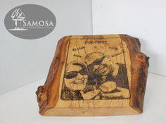 Leuk cadeau idee! Een foto gegraveerd in een mooi stuk hout.