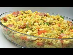 🔥SALADA DE MACARRÃO - ALMOÇO FÁCIL E RÁPIDO | MANUAL DA COZINHA #400 - YouTube Macaroni And Cheese, Food And Drink, Continue, Penne, Ethnic Recipes, Simple Pasta Salad, Mac Salad Recipe, Pasta With Shrimp, Ethnic Food