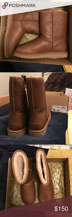 Uggs never worn in perfect condition Got these as a gift and have never worn them and need to get rid of them UGG Shoes Ankle Boots & Booties