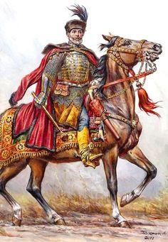 Гетьман Ходкевич. 1612 Poland History, Art History, Military Art, Military History, Military Costumes, Knight Armor, Fantasy Warrior, Fantasy Inspiration, Medieval Fantasy
