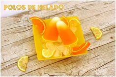 Polos de helado de melón y zumo de mandarina. ¡Súper fáciles de hacer!
