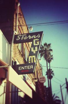 Sterns Gym. w. Olympus Trip 35.   #SanDiego #CA #Istillshootfilm #OlympusTrip #Trip35 #PalmTree #Sign #Signage #Type #SD #gym Olympus Trip, Lomography, Palm Trees, Color Splash, Signage, San Diego, Life, Palm Plants, Paint Splats