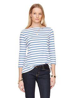 3/4 sleeve sailor tee, classic mens blue