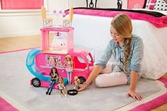 Barbie RV Camper Playset Pop Up Three Story Camping Adventures Bathroom Pool New