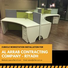 #CubicleWorkstation #OfficeFurniture Installation by #Aflak for #Alarrabcontractingcompany #Riyadh #SaudiArabia. #OfficeFurniture #Workstations #OfficeChairs #OfficeDesk #ConferenceTable #madeinksa Office Cubicle, Office Desk, Contracting Company, Office Workstations, Conference Table, Riyadh, Office Furniture, Layout, Desk Office