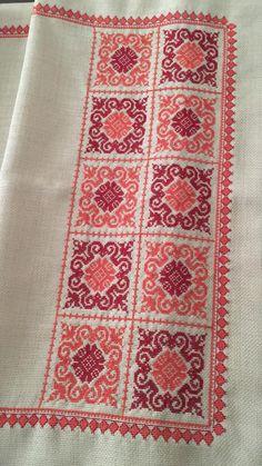 Cross Stitch Art, Cross Stitch Borders, Cross Stitch Designs, Cross Stitching, Cross Stitch Embroidery, Cross Stitch Patterns, Hand Embroidery Design Patterns, Embroidery Hoop Art, Palestinian Embroidery