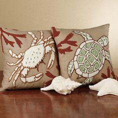 Sandpiper Cove Coastal Decorative Pillows