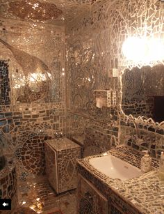 Mirror Mosaic Wall Art this is how everyone should reuse broken mirror | the dream house