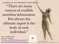 The Center for Mindful Eating - National Nutrition Month