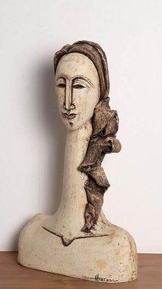 Wood base with burlap hair