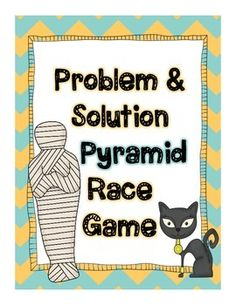 "This fun Ancient Egypt themed game can be used when teaching students to identify problems and solutions in text. This product includes a ""how to use this product"" page, game instructions, 28 game cards with facts about Ancient Egypt, a game board, an answer sheet and a pyramid building worksheet for students to use as an extension activity."
