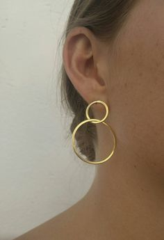 Thick Gold Hoop Earrings - bold large gold hoop earrings/ statement Hoops/ statement earrings/ classic gold hoops/ gifts for women - Fine Jewelry Ideas Tiny Stud Earrings, Circle Earrings, Unique Earrings, Silver Hoop Earrings, Crystal Earrings, Dangle Earrings, Gold Statement Earrings, Silver Ring, Diamond Earrings